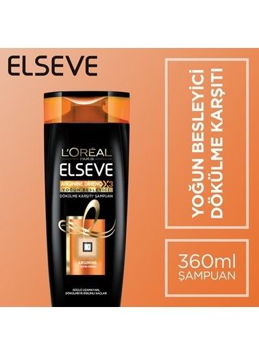 L'Oréal Paris Elseve Arginine Direnç X3 Yoğun Besleyici Dökülme Karşıtı Şampuan 360 Ml Renkli